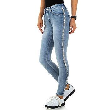Ljusblå Skinny Fit jeans med Paljetter