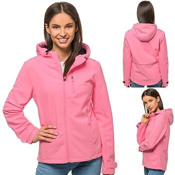 Rosa Softshell jacka med luva