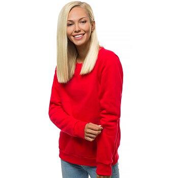 Sweatshirt Dam Röd