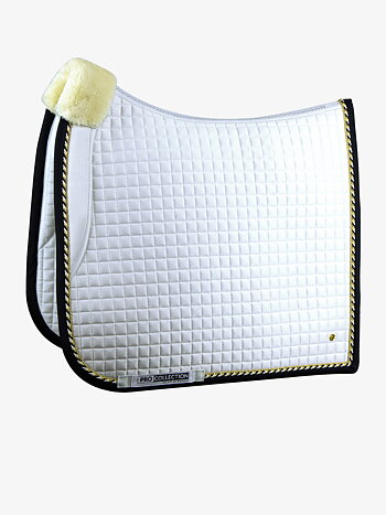 Dressage saddle pad, White/Navy