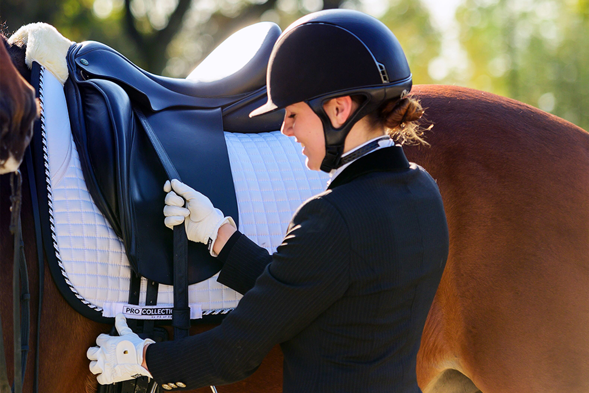 Saddle Pad White Competition Jump