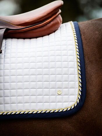 Jump Saddle Pad, White/Navy