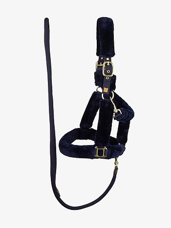 Fluffy halter + lead rope, Deep Sapphire