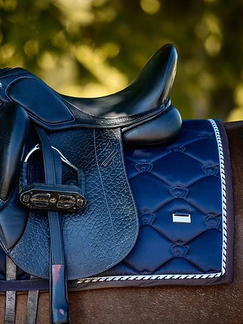 Dressage Saddle Pad,  Deep Sapphire, COB