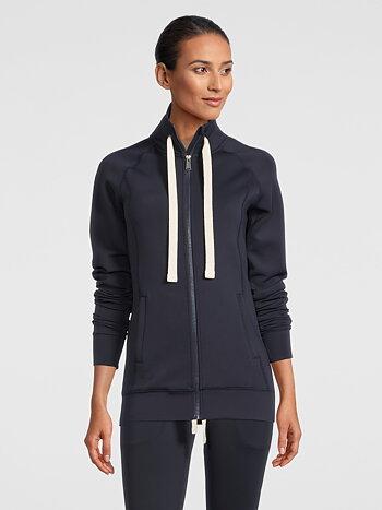 Zip-up Sweater, Jayne, Navy