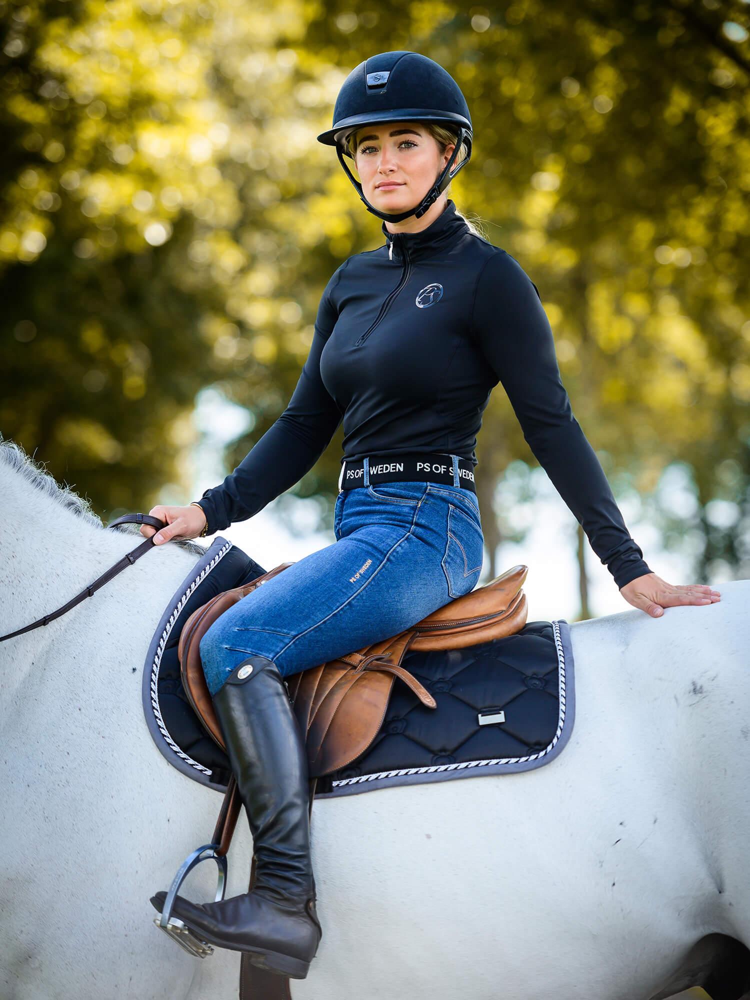 Jump Saddle Pad Black Thehorselet