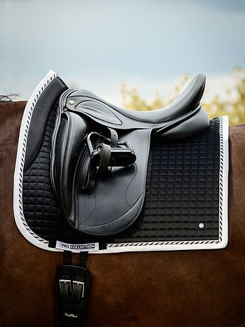 Dressage saddle pad, Black, PRO