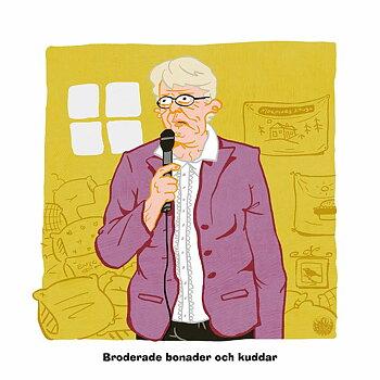 Broderade Bonader poster