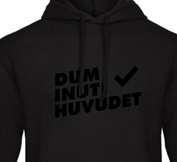 Dum Inuti Huvudet - Hoodie Helsvart