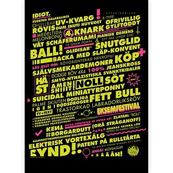 LÖPSAGEL SVART poster