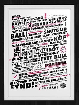 LÖPSAGEL VIT poster