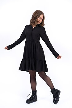 DESTINY SHIRT DRESS BLACK