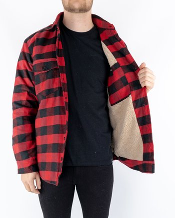 Bros Co. - Frank Sherpa Shirt Red