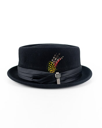 Brixton - Stout Pork Pie Hat Black