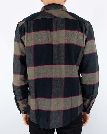 Brixton - Bowery Flannell Heather Grey/Charcoal