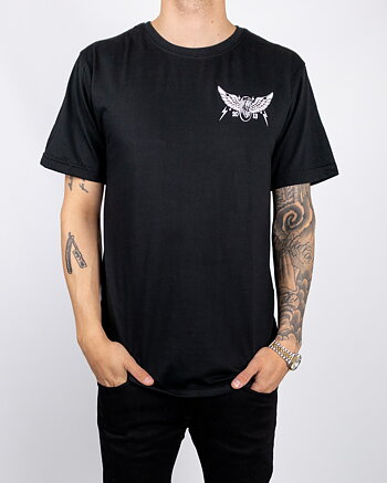 Jernhest - Wheel Wing Tee Black
