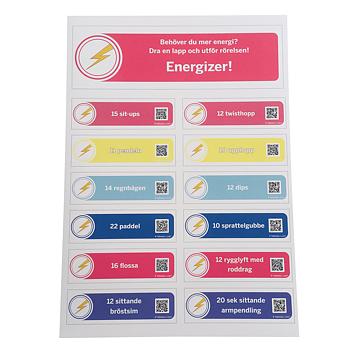 Energizer - rörelsekort