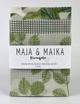 Drömmigt grönt- bivaxfolie 3-pack
