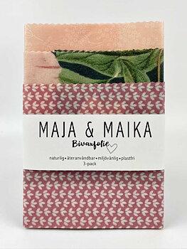Rosa ros- bivaxfolie 3-pack