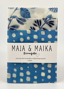 Lite blått- bivaxfolie 3-pack