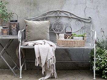 Bänk - Fransk romantisk stil - Antik zink