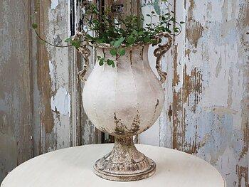 Fransk urna på fot - Antique Creme