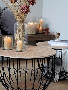 Soffbord med träskiva Fransk lantstil - 2-pack