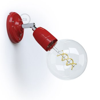 Vägglampa Porslin, röd