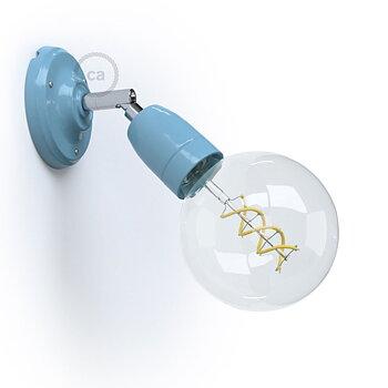 Vägglampa Porslin, blå