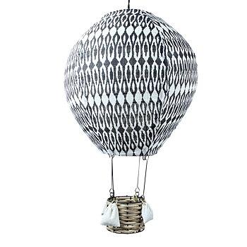 Taklampa Luftballong, svartmönstrad