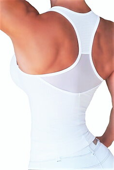 RAW By Adriana Kuhl Zip Tanktop White Mesh