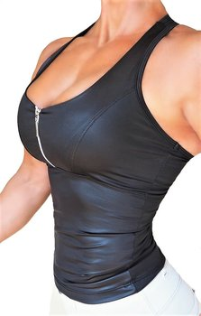 RAW By Adriana Kuhl Zip Tanktop Shiny Black