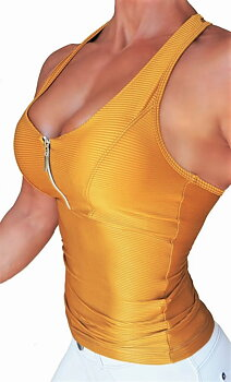 RAW By Adriana Kuhl Zip Tanktop Gold