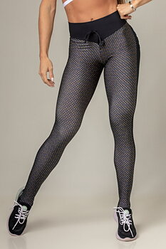 HIPKINI Famous Scrunch Tights Black/ Dots