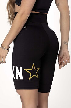 HIPKINI Fitness Shorts Black Logo