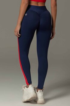 HIPKINI Stripes Scrunch Tights  Dark Blue