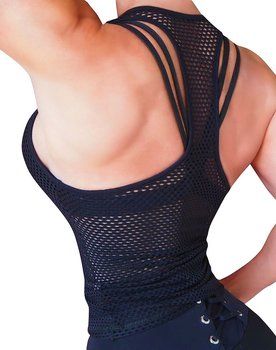 RAW By Adriana Kuhl Net Tanktop Black