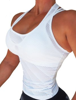 RAW By Adriana Kuhl Net Tanktop White