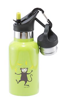 Vakuumisolerad termosflaska av rostfritt stål - Barn - 0,35L - Apa limegrön