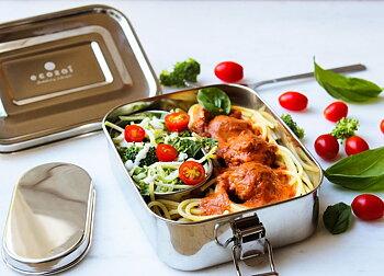 Tät matlåda rostfritt stål  + minimatlåda
