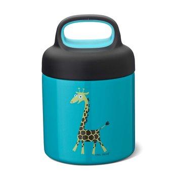 Mattermos - av rostfritt stål - Barn – 0,3L - Giraff turkos