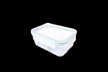 Matlåda av glas Duo (två fack) 920ml - Air Type - mikro/kyl/frys Glasslock