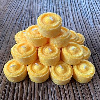 Värmeljus stearin påskgula 24-pack (refill)