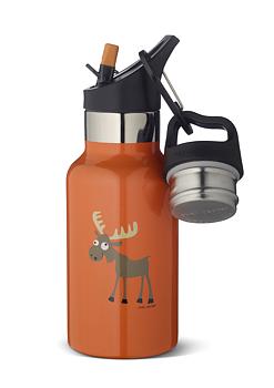 Vakuumisolerad termosflaska av rostfritt stål - Barn - 0,35L - Älg orange