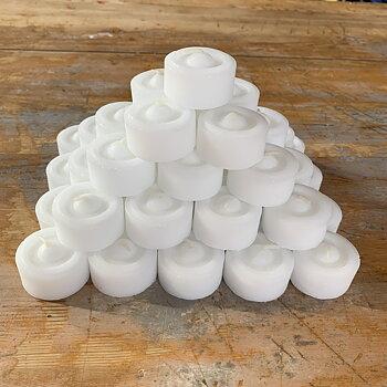 Värmeljus stearin vita 24-pack (refill)