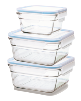 Matlådor 3-pack kvadrat - ugn