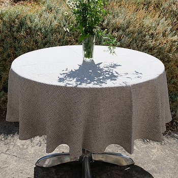 Notebook - round linen tablecloth