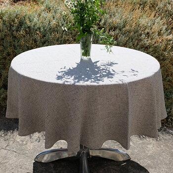Notebook - round linen tablecloth