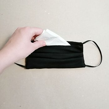 WITH POCKET Washable reusable face mask - square mask