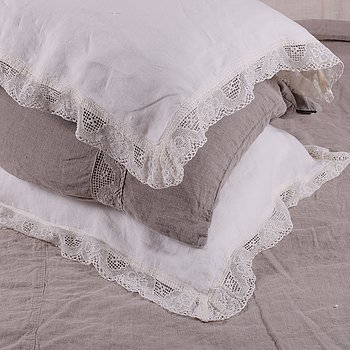 Linen pillow case - Linda - 4sides